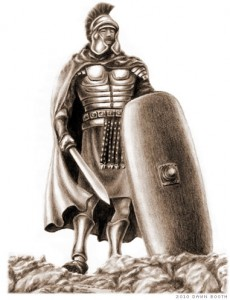 Drawing of the Armor of God