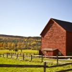 Fenced Red Barn