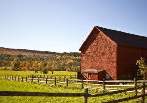 Fenced Red Barn