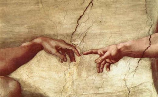 Michelangelo's painting, Creation of Adam
