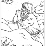 sketch of jesus praying in the garden of gethsemane