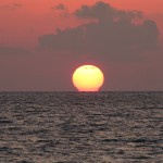 sunset over gulf at anna maria island florida