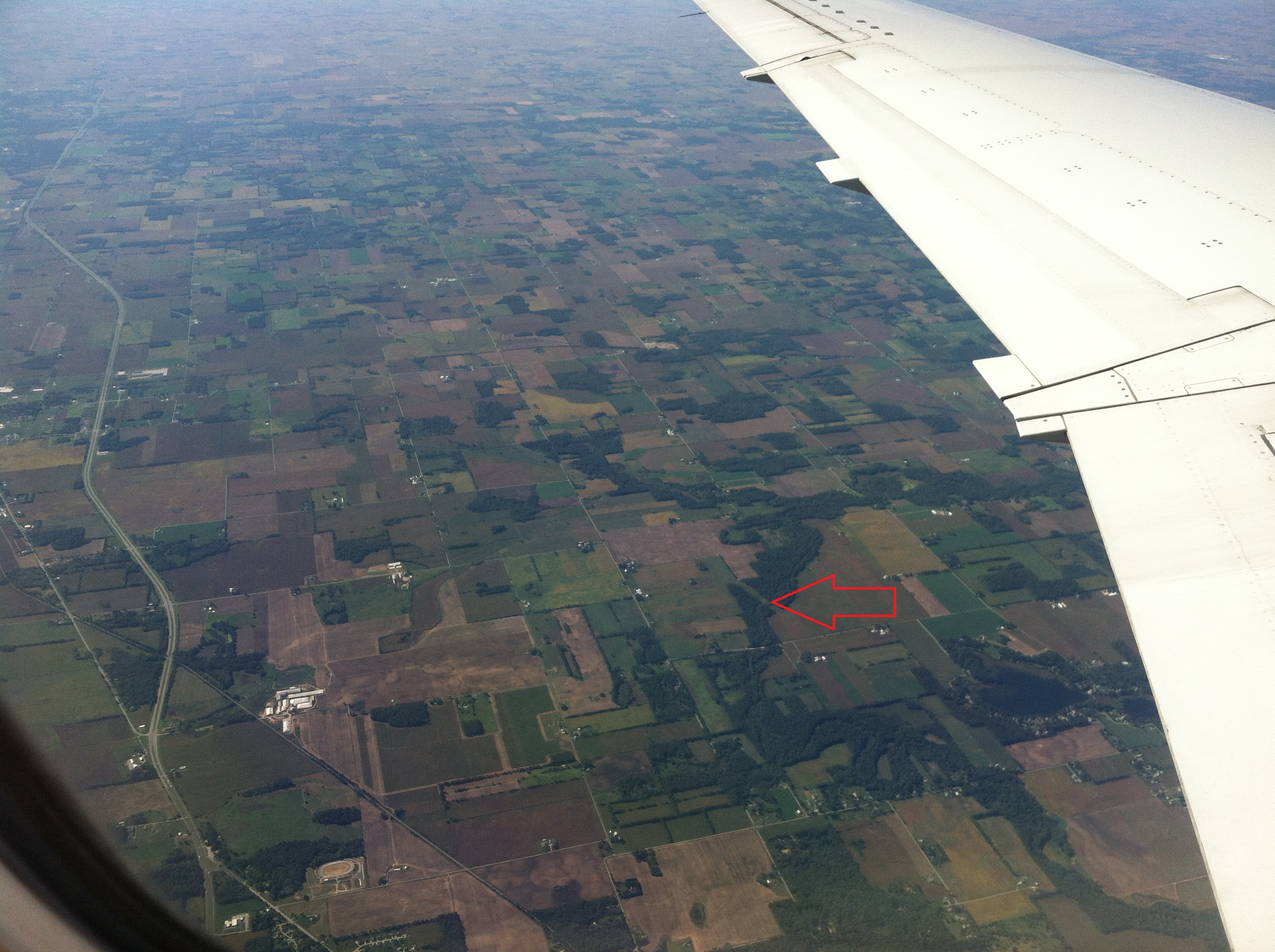 aerial photograph from plane window