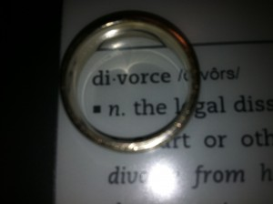 wedding band placed over definition of divorce