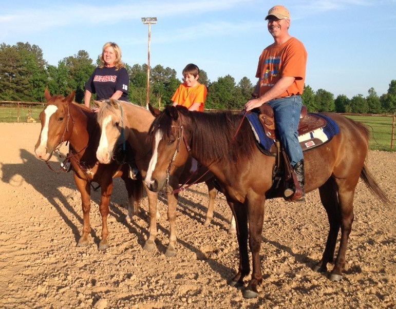 our family riding horses