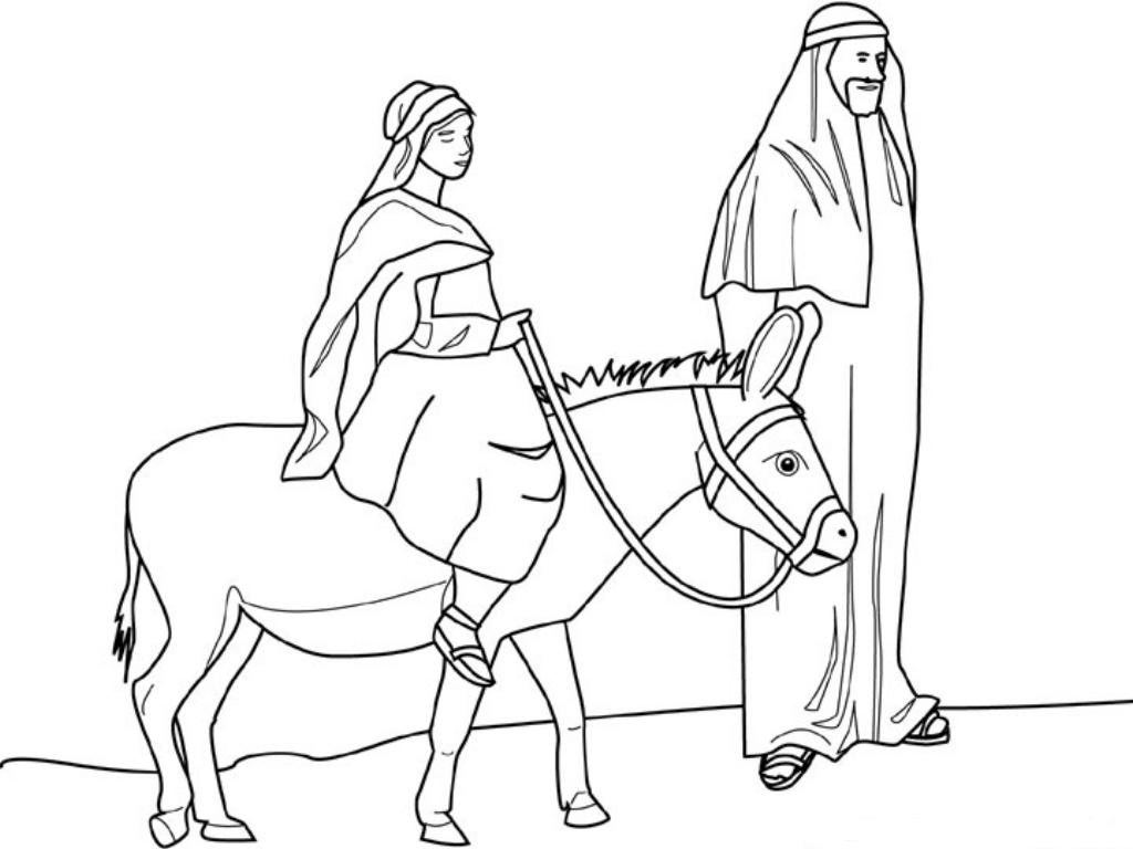 joseph mary coloring pages - photo#14