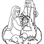 nativity scene line drawing