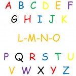 alphabet in bright colors