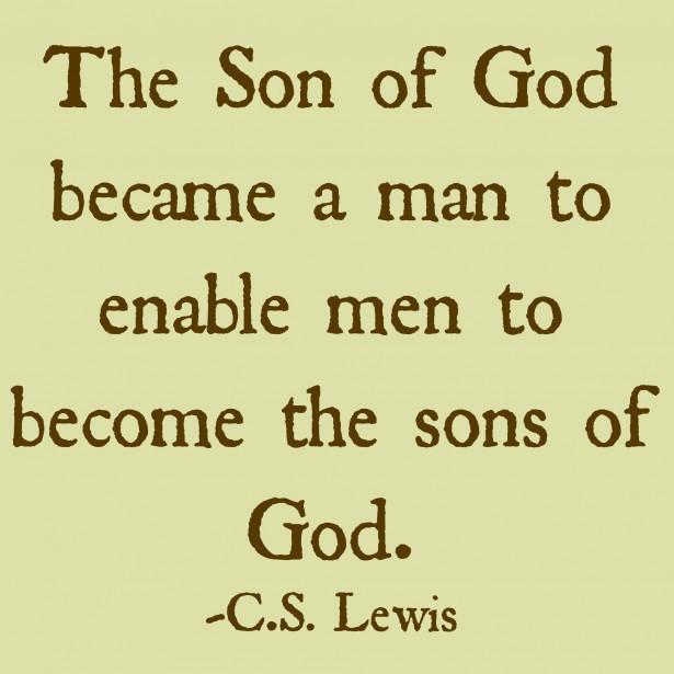 god became man
