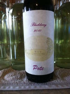 blackberry wine label